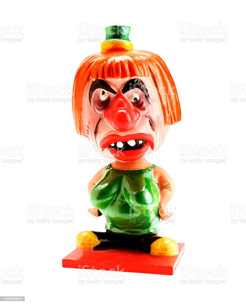 Crazy Clown stock photo