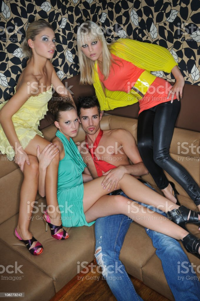 Crazy Clubbing - In the VIP Lounge royalty-free stock photo