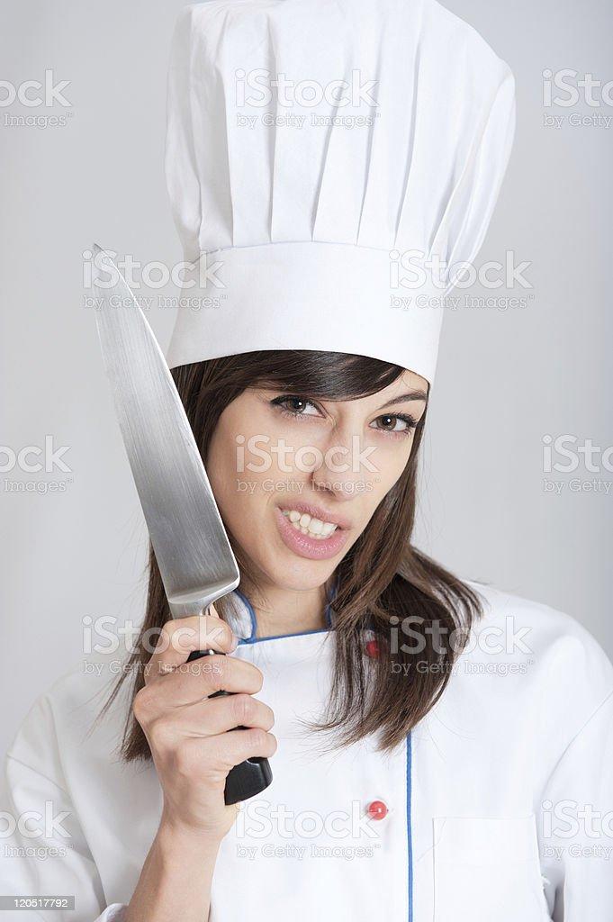 Crazy cook stock photo