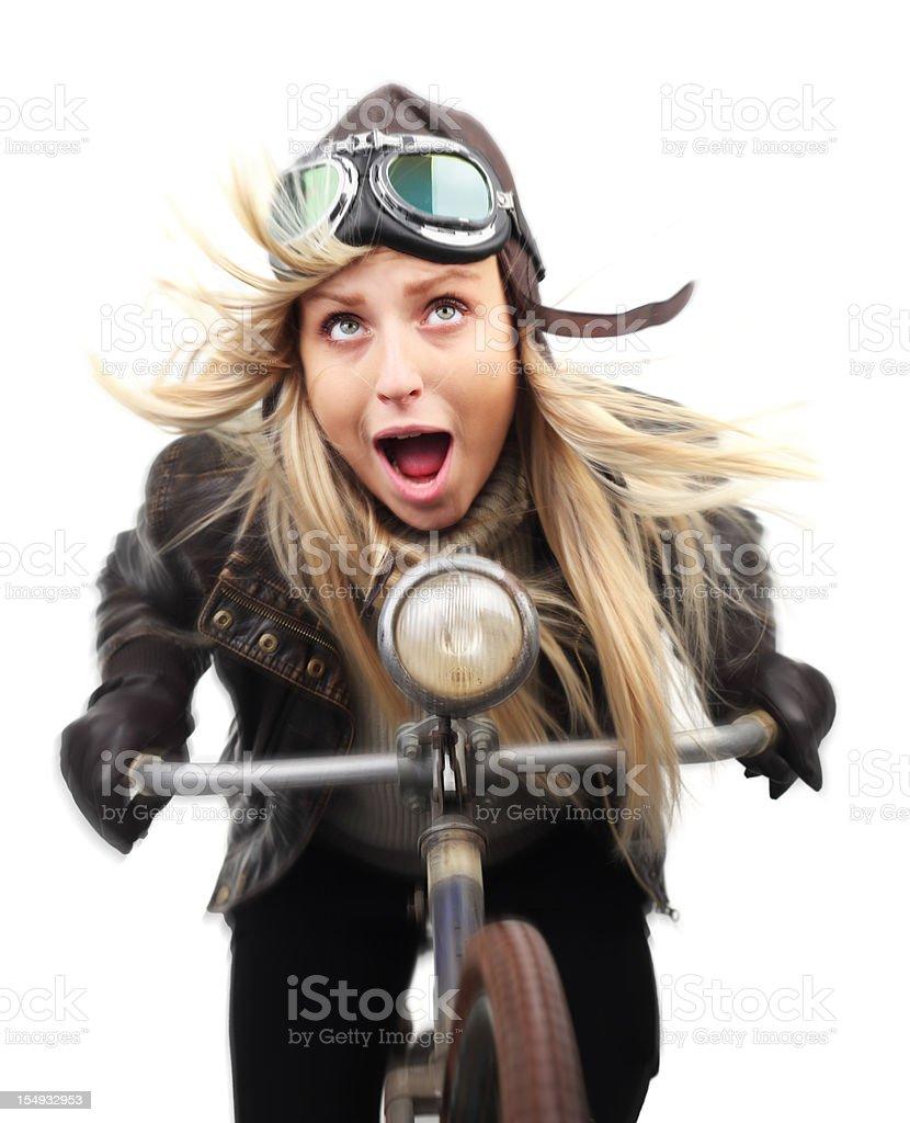 Crazy Cyclist royalty-free stock photo