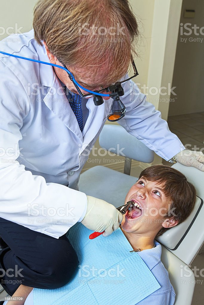 Crazy Dentist royalty-free stock photo