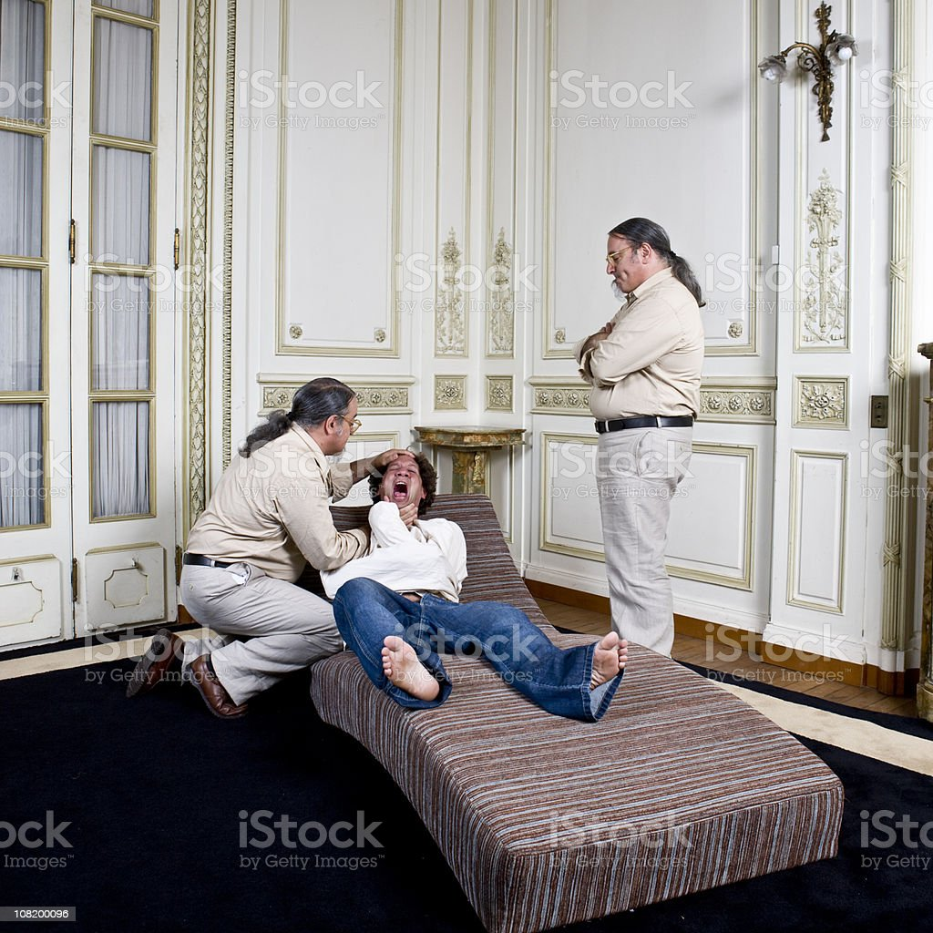 Crazy doctor? Patient? royalty-free stock photo