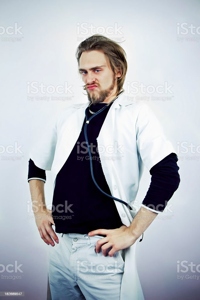 Crazy doctor royalty-free stock photo