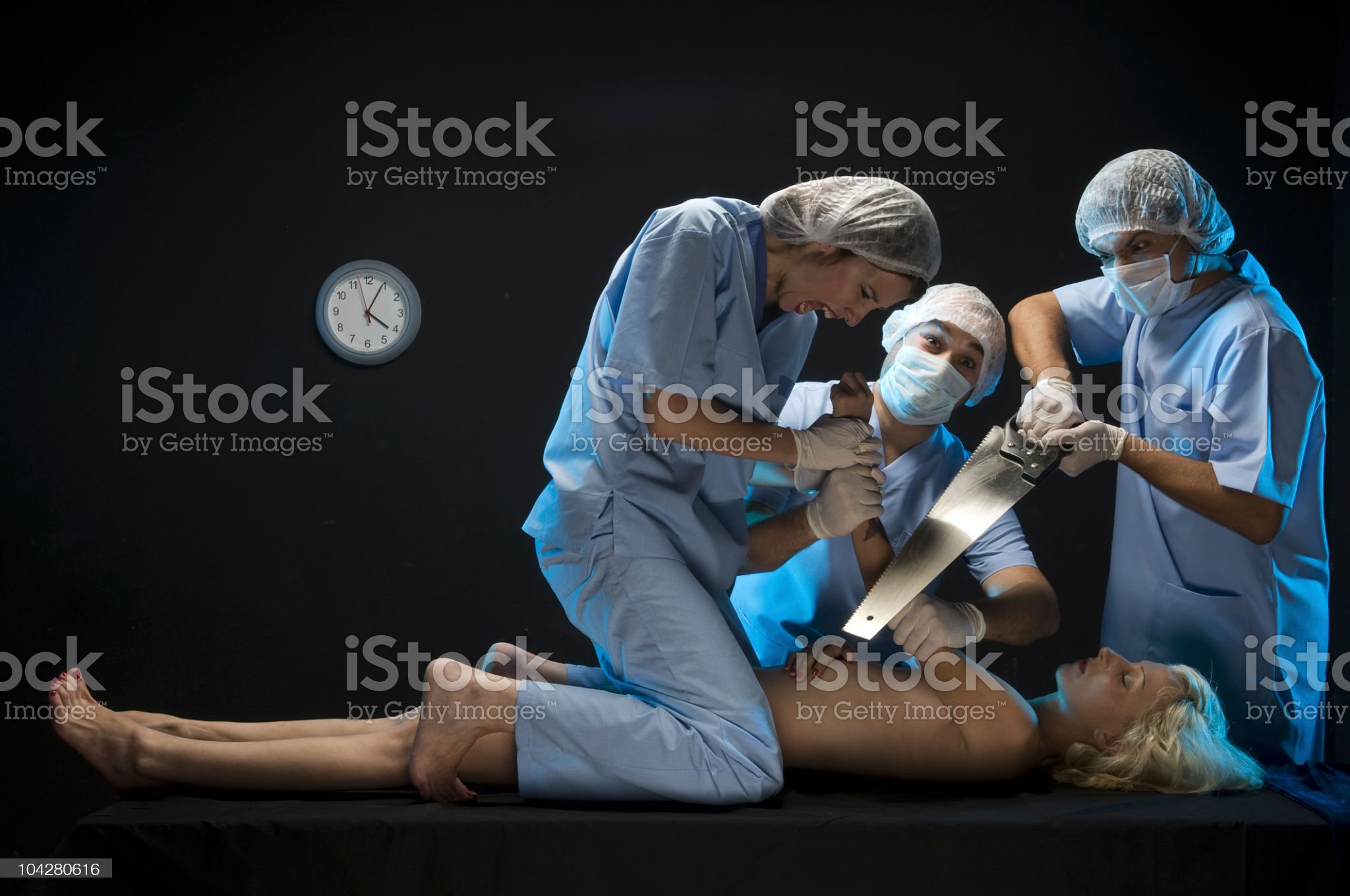 crazy doctors royalty-free stock photo
