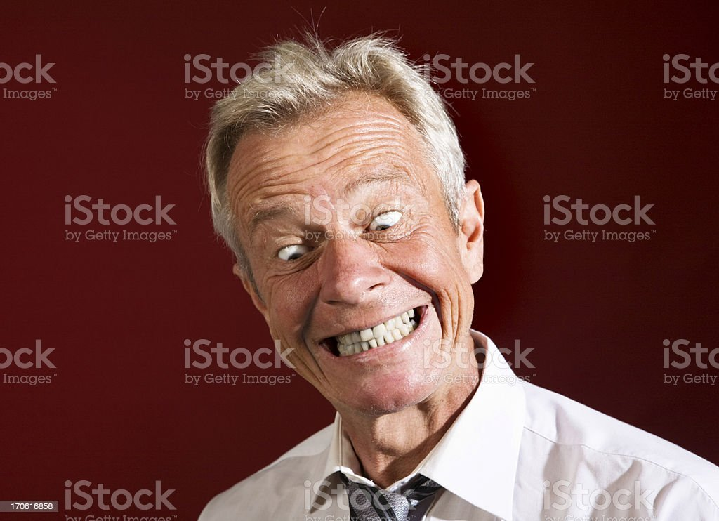 Crazy dude royalty-free stock photo