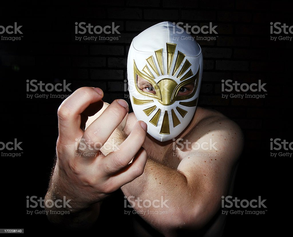Luchador Loco royalty-free stock photo