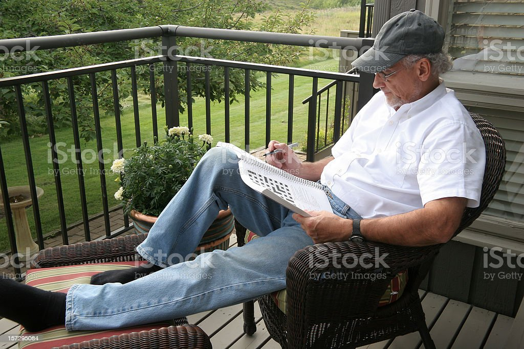 Crazy For Crosswords royalty-free stock photo