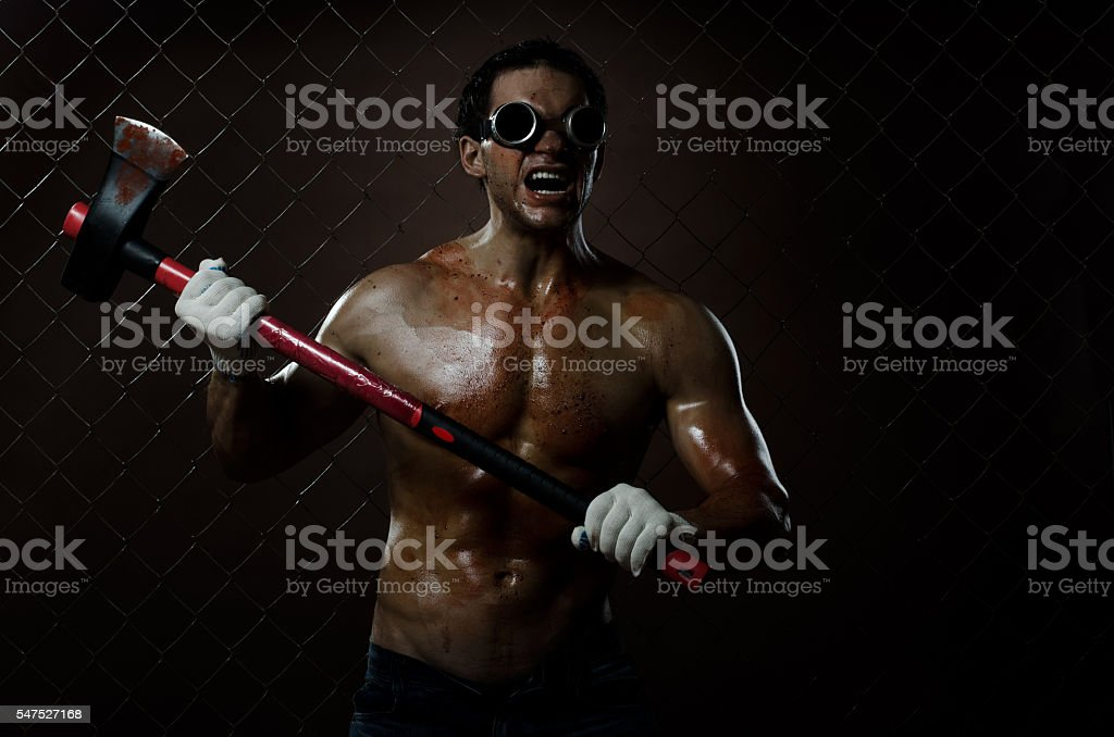 crazy frenzied chopper stock photo