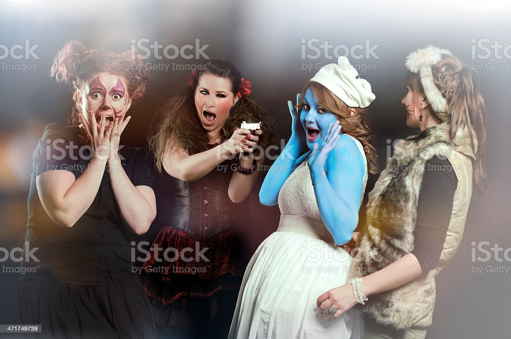 crazy friends royalty-free stock photo