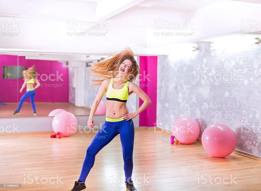 Crazy funny dancer stock photo