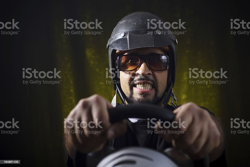 Crazy gamer royalty-free stock photo