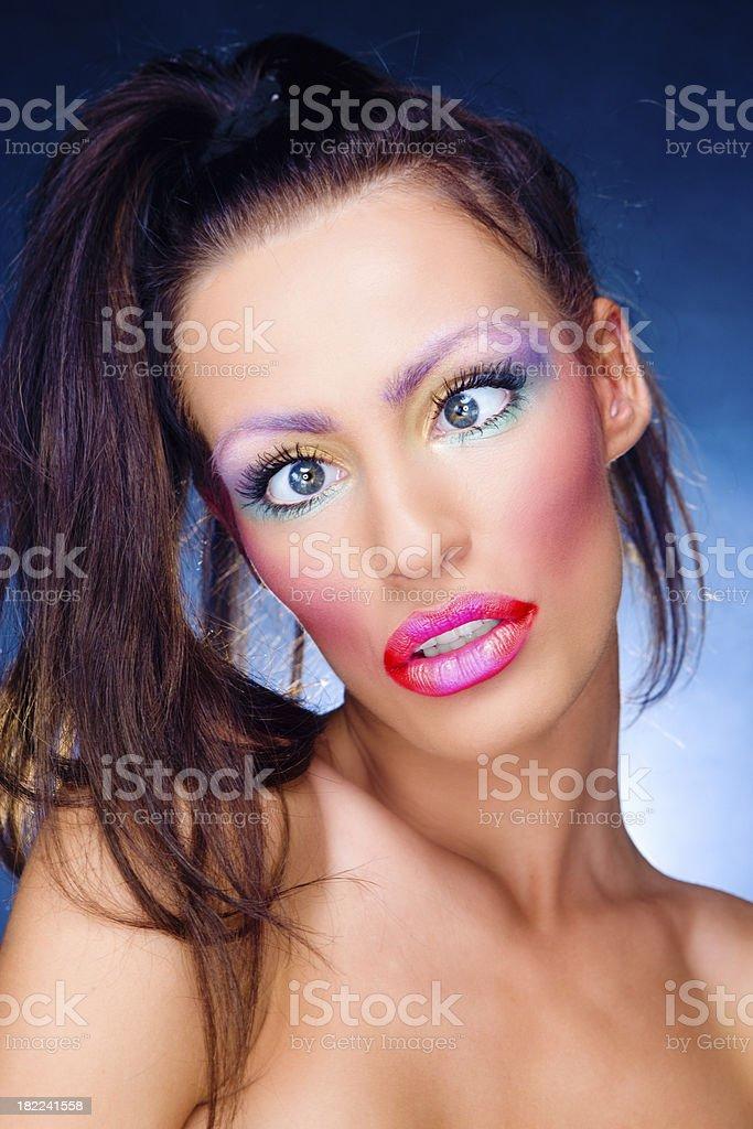 Crazy girl royalty-free stock photo