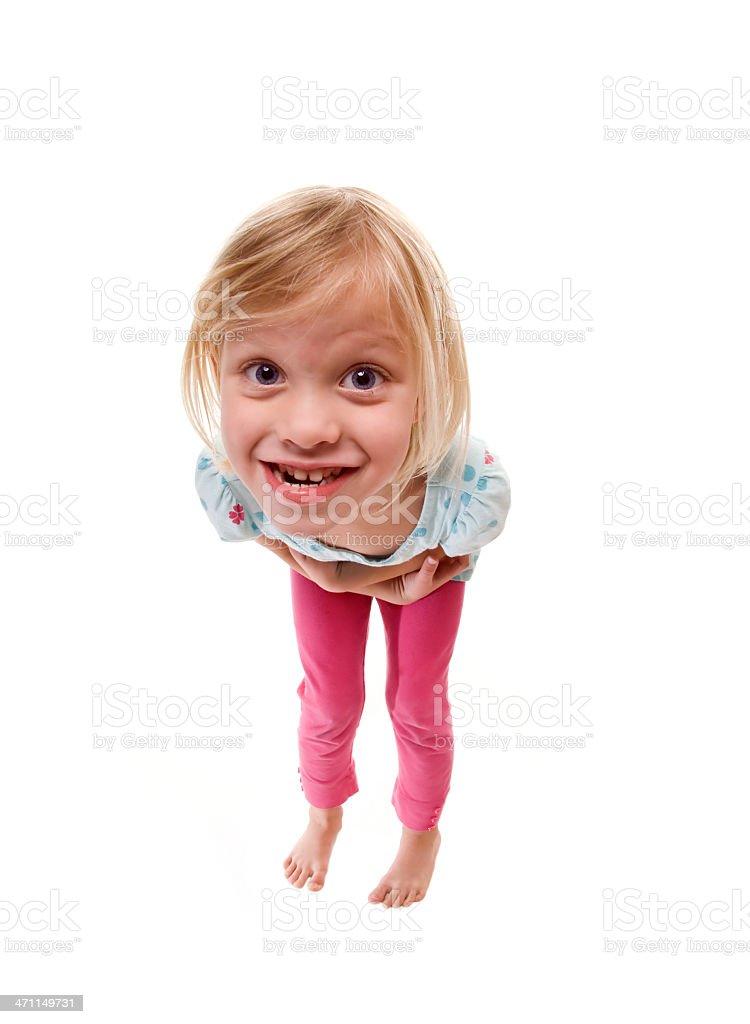Crazy Mädchen Lizenzfreies stock-foto
