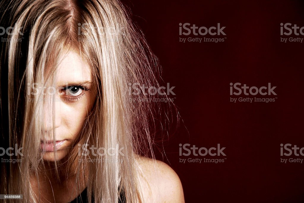 crazy girl royalty-free stock photo