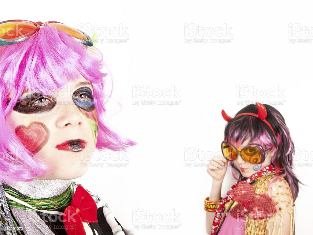 Crazy girls royalty-free stock photo