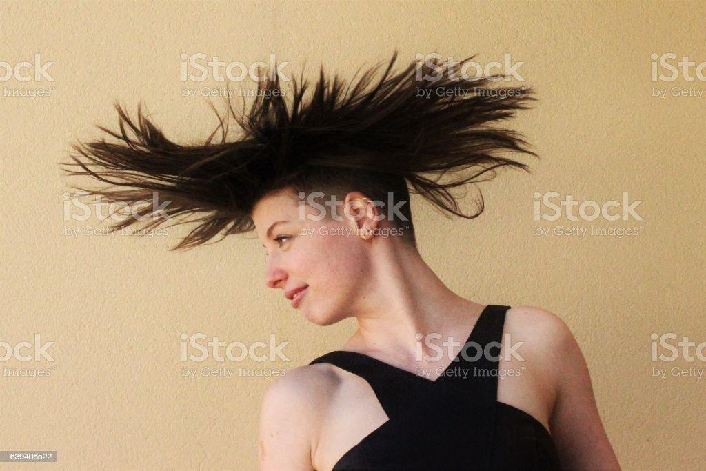 Crazy Hair stock photo