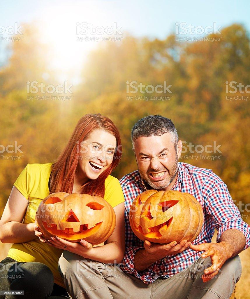 crazy Halloween time stock photo