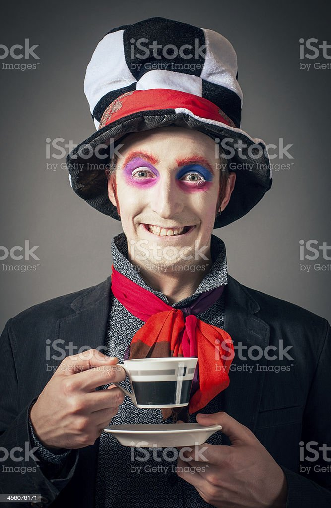 Crazy Hatter royalty-free stock photo