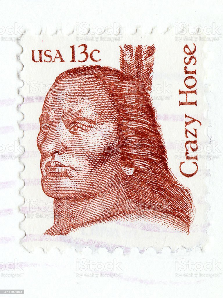 crazy horse 13 cent stamp USA stock photo