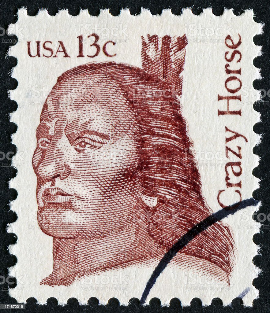 Crazy Horse Stamp royalty-free stock photo