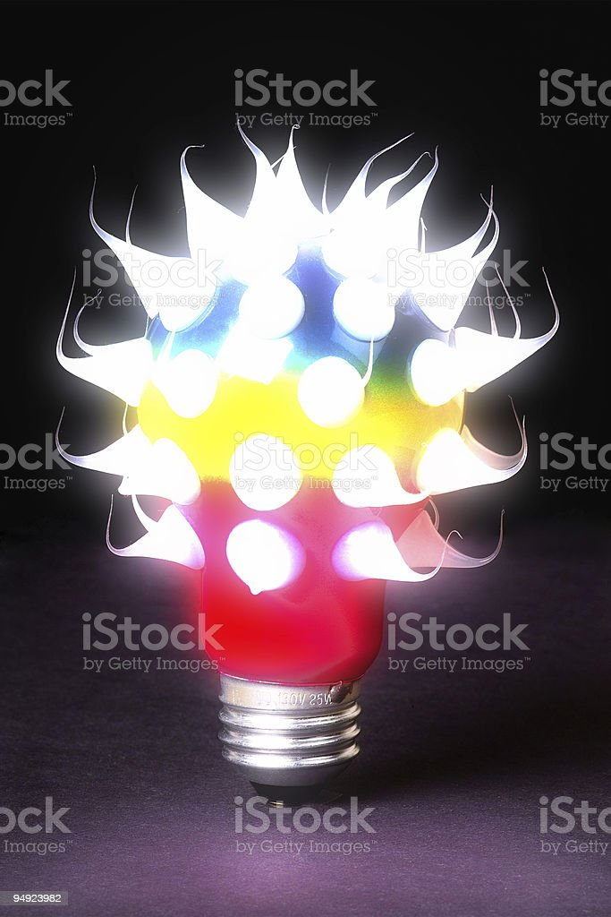 Crazy Idea - Glowing royalty-free stock photo