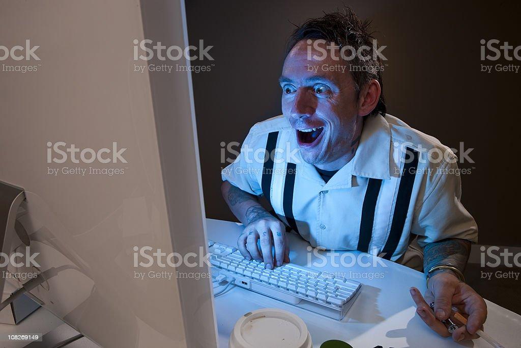 Crazy Internet Predator royalty-free stock photo