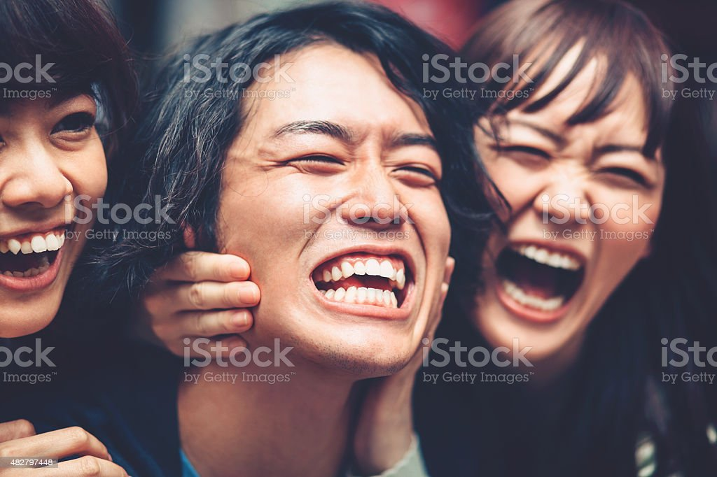 Crazy japanese people stock photo