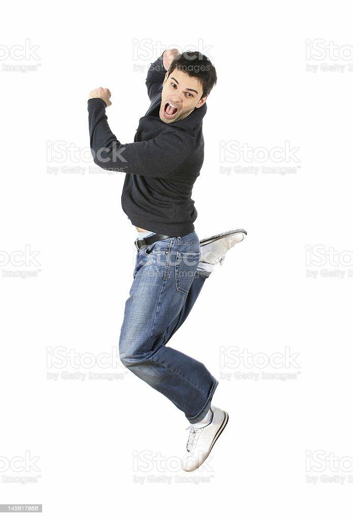 Crazy Jump! royalty-free stock photo