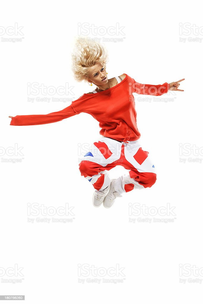 Crazy jump royalty-free stock photo