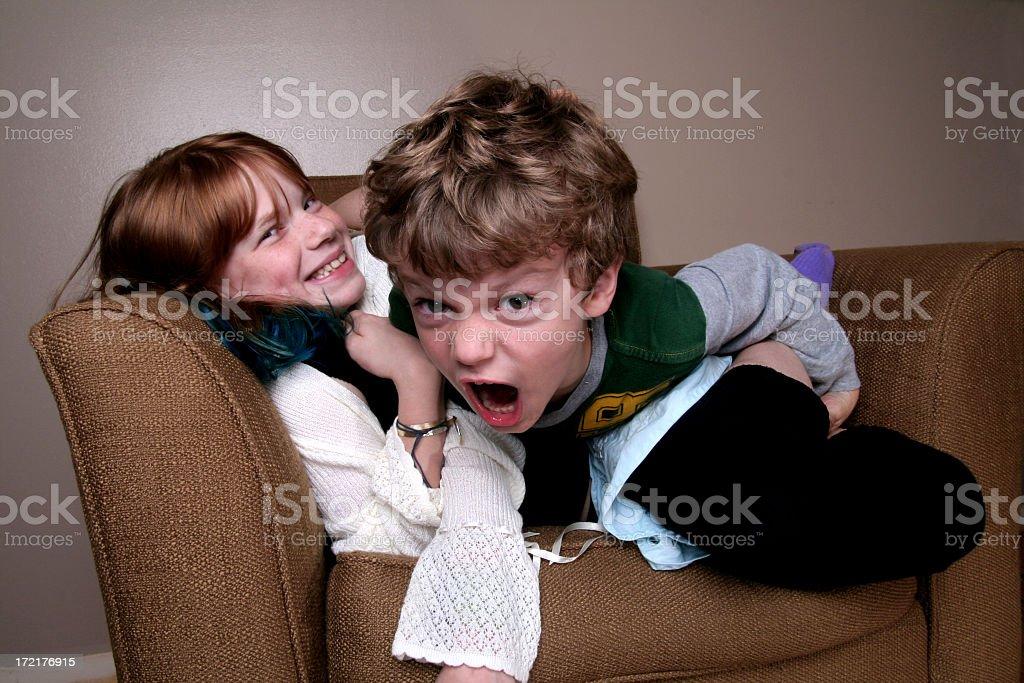 crazy kids royalty-free stock photo