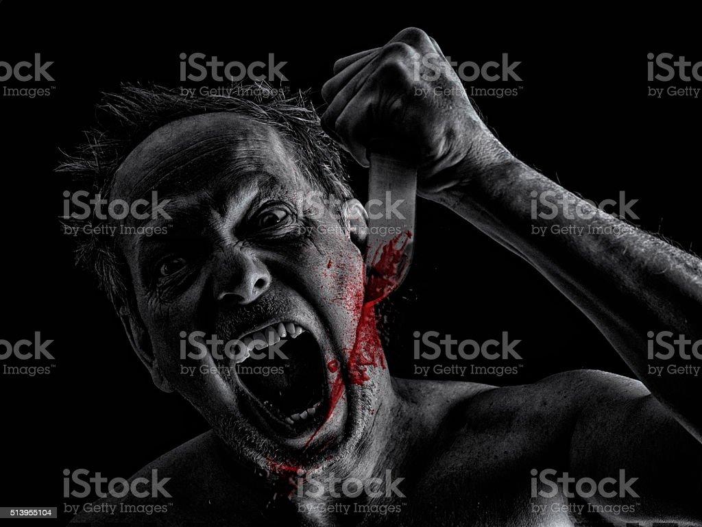 Crazy Killer stock photo