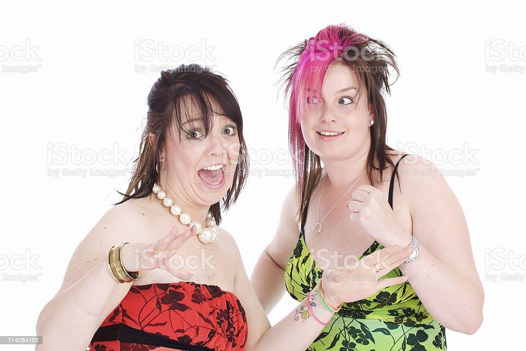Crazy Ladies... stock photo