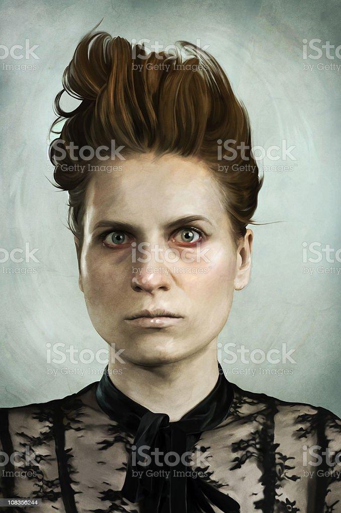 crazy lady stock photo