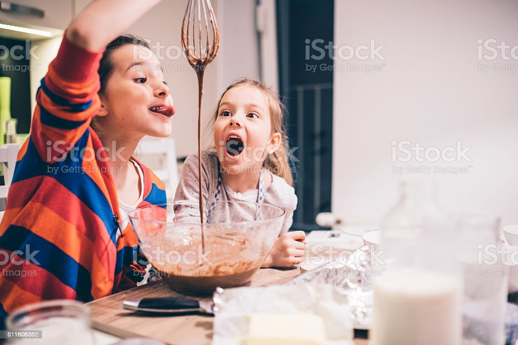 Crazy little bakers stock photo