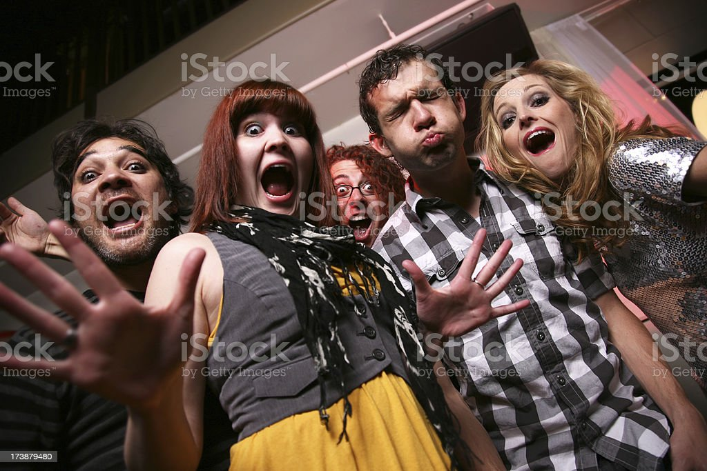 Crazy Looking Bunch of Young People royalty-free stock photo