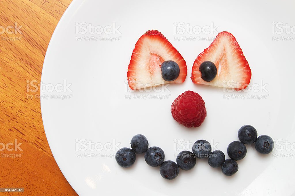 Crazy Mad Face Made of Fruit royalty-free stock photo
