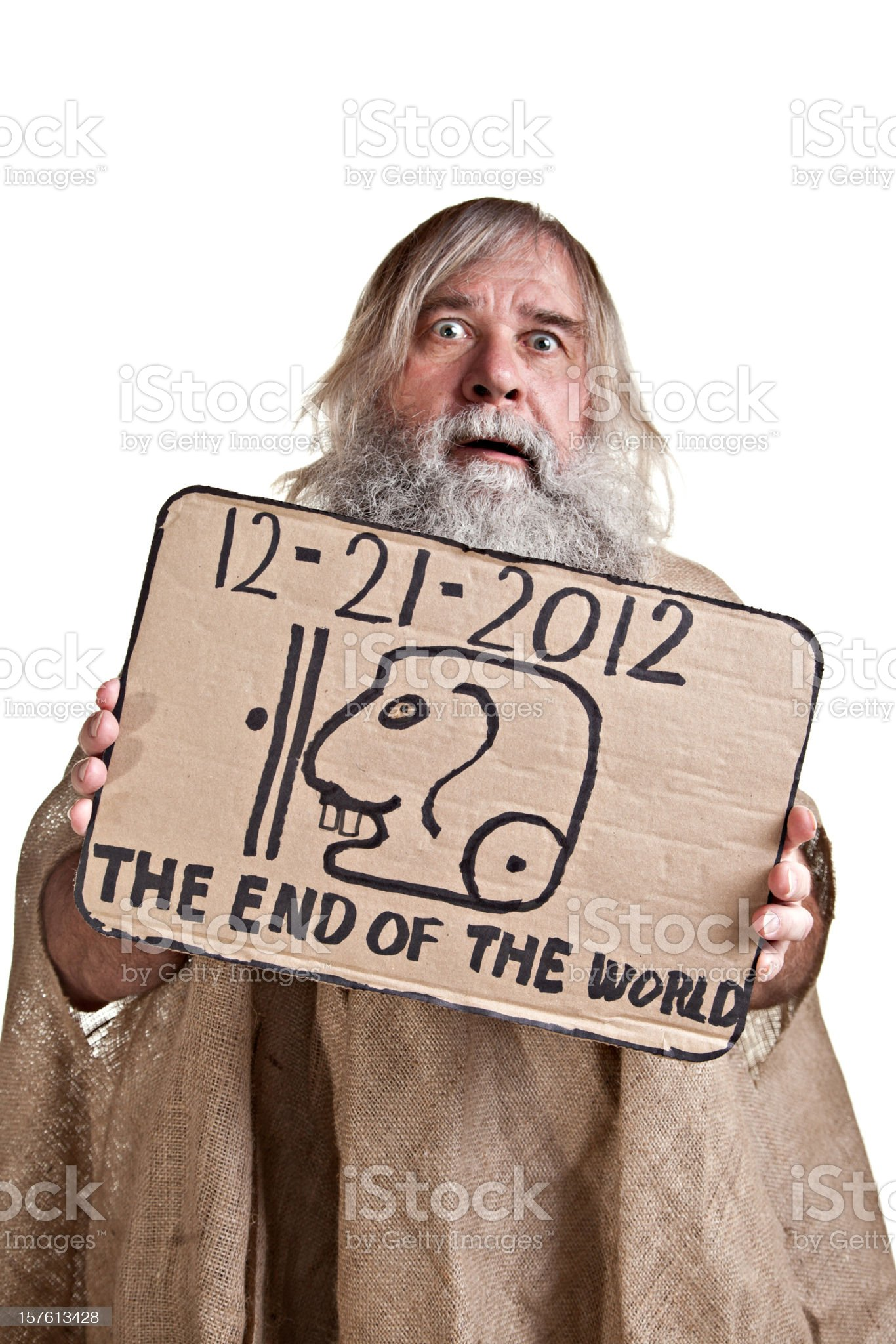 Crazy Man Of 2012 royalty-free stock photo