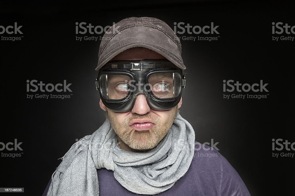 Crazy man royalty-free stock photo