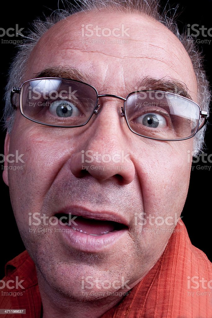 Crazy Middle Aged Man royalty-free stock photo