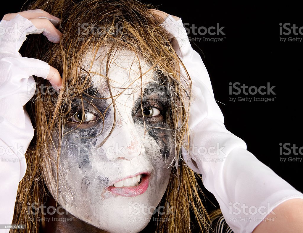 Crazy Mime royalty-free stock photo