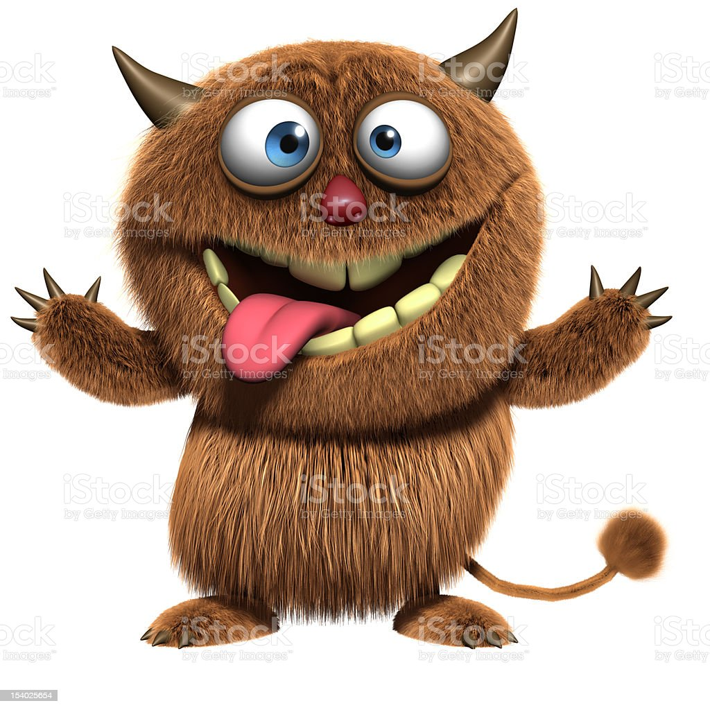 crazy monster royalty-free stock photo