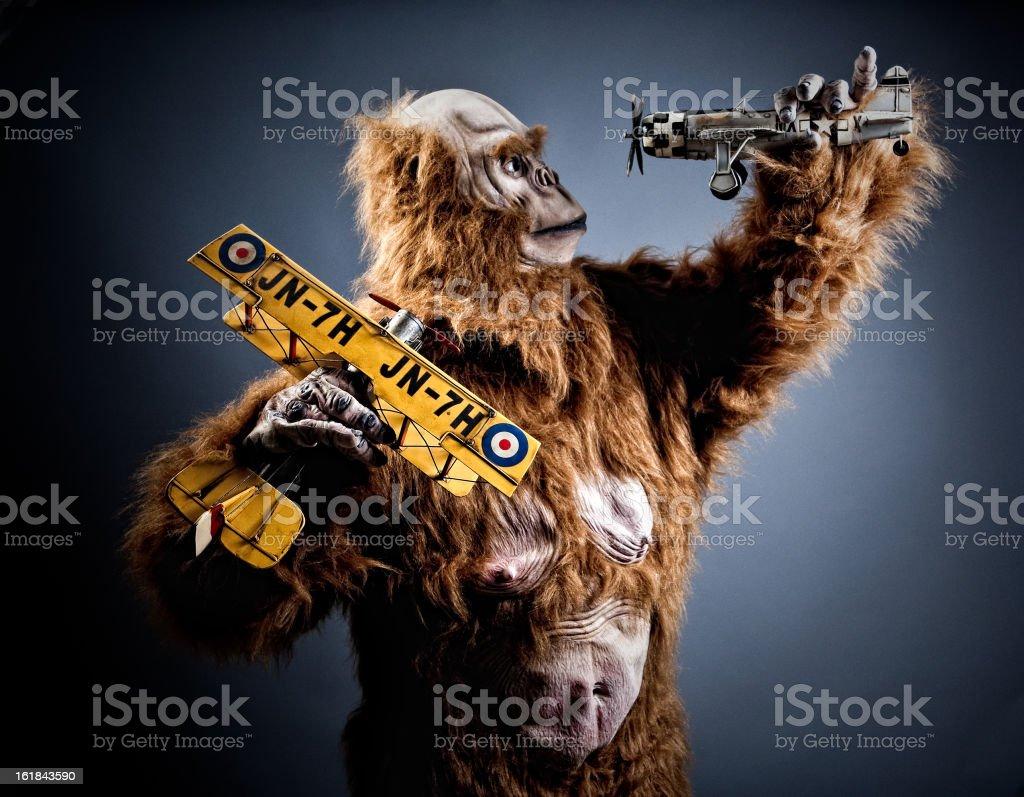 crazy monster stock photo
