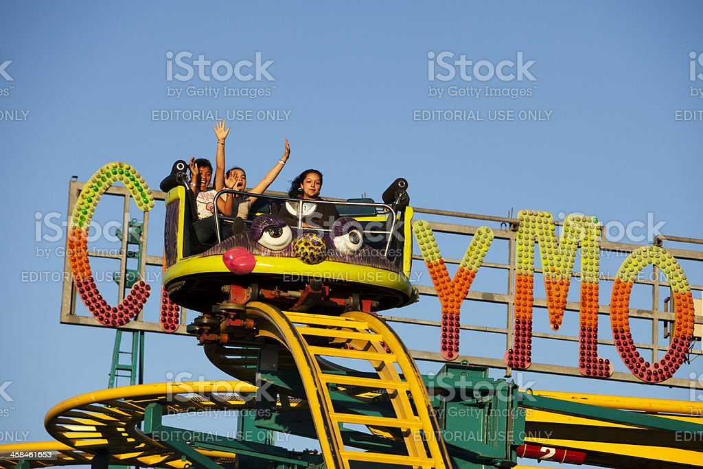 Crazy Mouse ride at the Fair stock photo