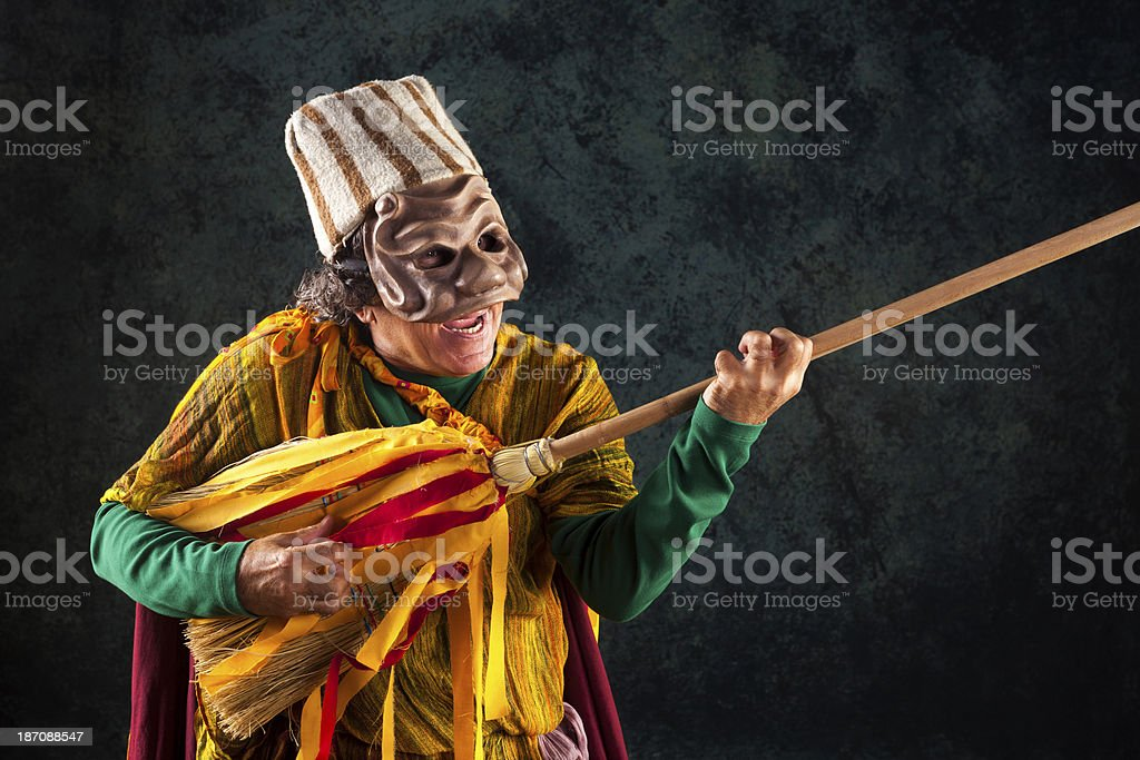 Crazy Musician stock photo