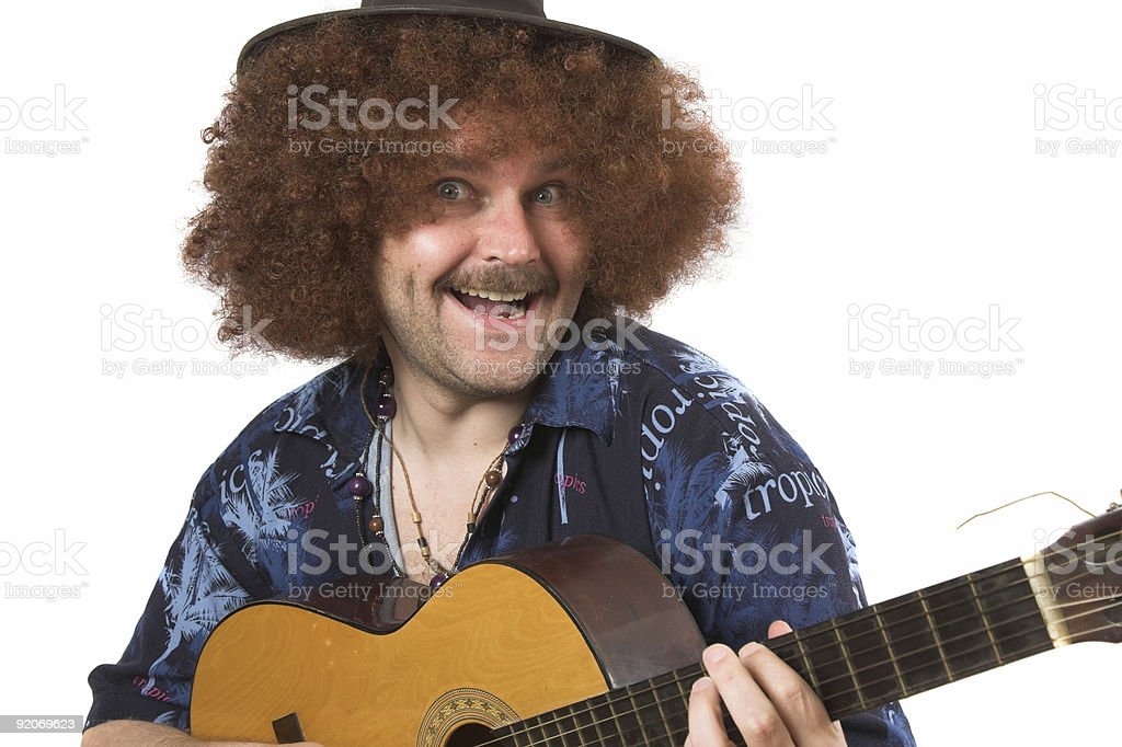 Crazy musician royalty-free stock photo