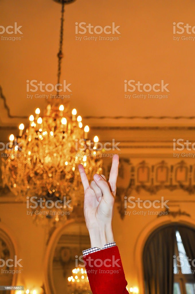 crazy party sign at a glamorous event royalty-free stock photo