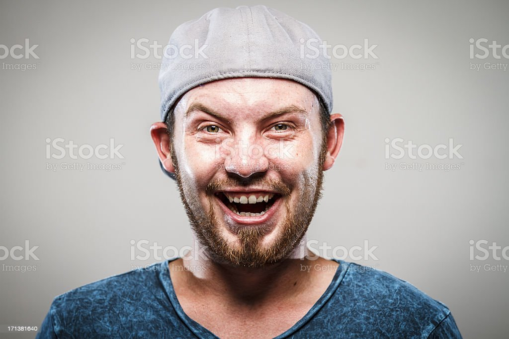 Crazy royalty-free stock photo