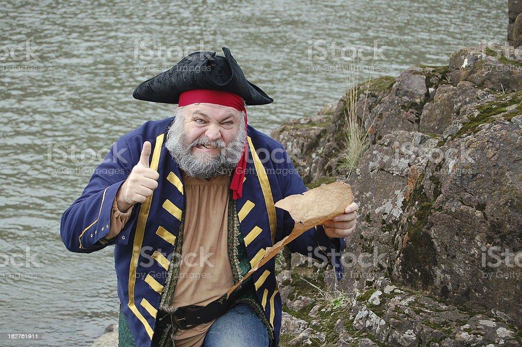 Crazy Pirate stock photo