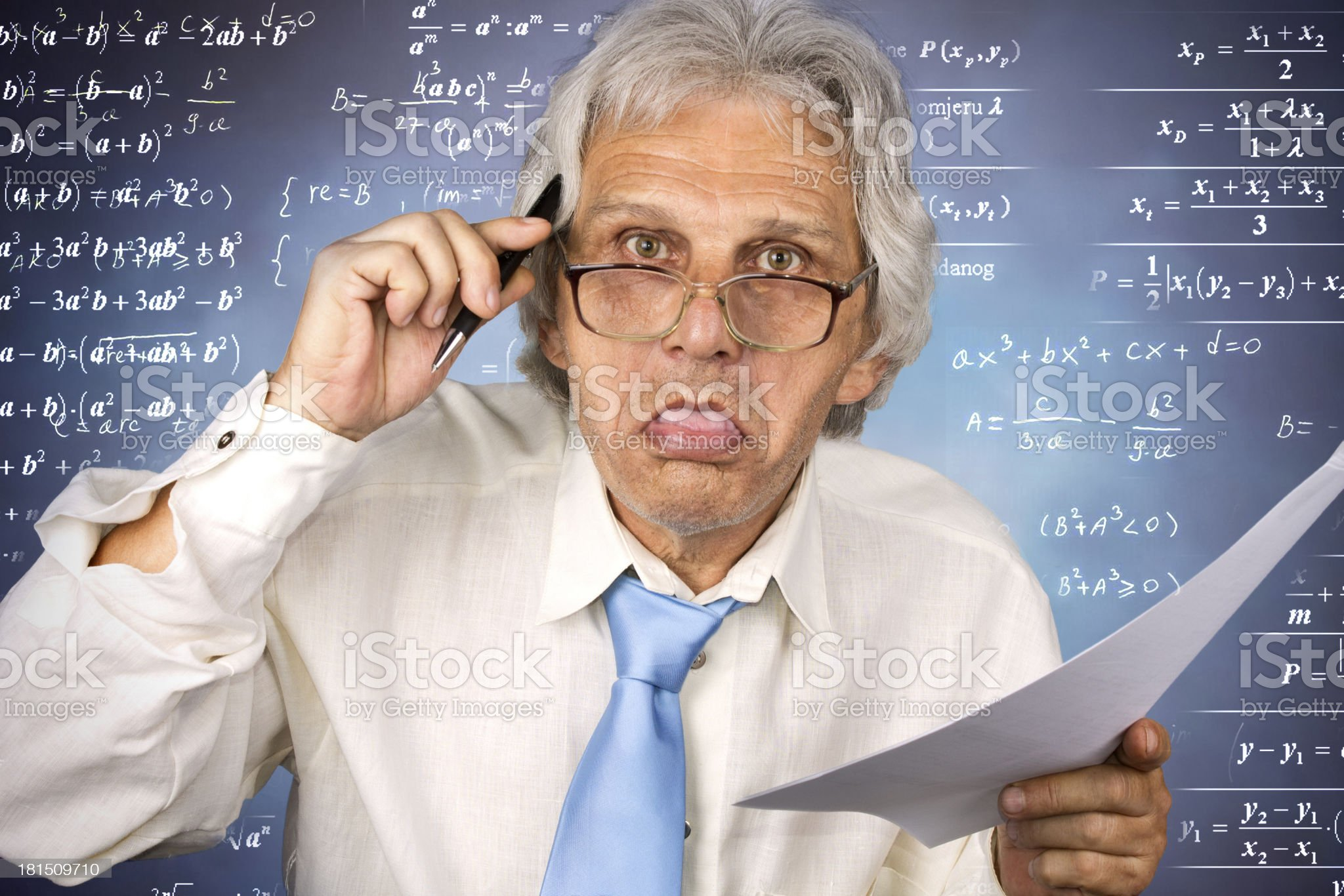 crazy professor royalty-free stock photo