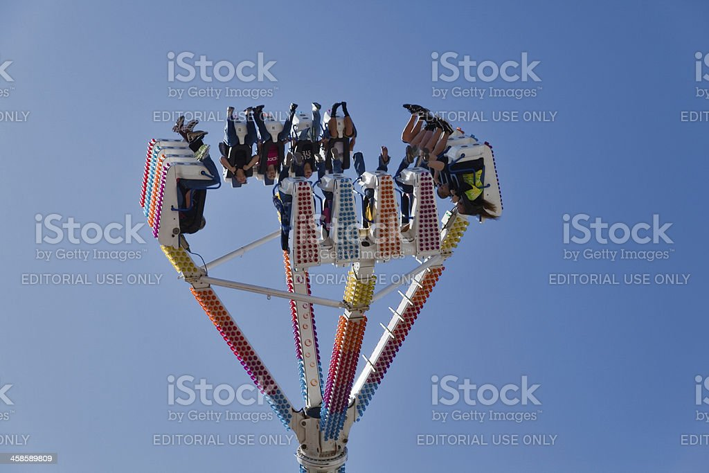 Crazy ride at the fair royalty-free stock photo